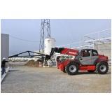 locação de manipuladores de cargas para construção