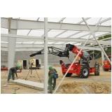 locação de manipuladores de cargas para construção preço Divinópolis